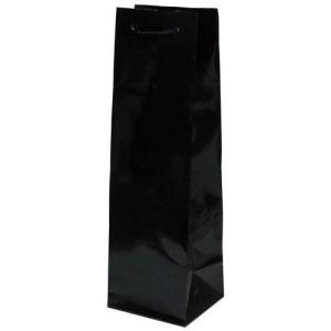 ギフトラッピング:ワイン紙袋 (黒) プレゼント用 記念品用|webshop-kameya