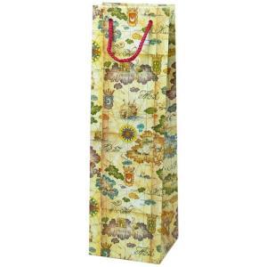 ギフトラッピング:ワイン紙袋 (地図) プレゼント用 記念品用|webshop-kameya