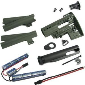 M4 Clubfoot Modstock - OD w/パイプ&1400mAh-10.8Vバッテリー|webshopashura