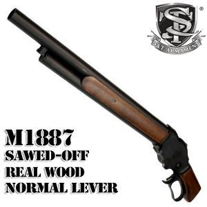 【店内全品2%OFF!】S&T ウィンチェスター M1887 ガスショットガン ソードオフ リアルウッド(排莢式)
