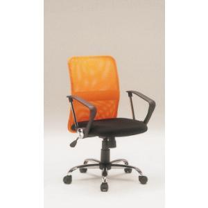 【オフィスチェア/H-8678F/デスクチェア/デスクチェア/オレンジ|webshoppaz