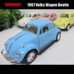 1/32VW-ビートル/1967/パステルカラー/(4色セット)/KINSMART
