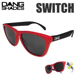 dangshades サングラス SWITCH Gloss RED Black X Blackレンズ...