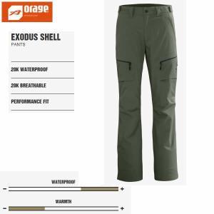 処分価格!オラージュ スキーウェア 14-15 EXODUS シェル-pt パンツ/TARMAC  G220   ORAGEウエア(メンズウエア、男性)|websports