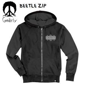 gnarly パーカー BEETLE ZIP ブラック スノーボード パーカー ナーリー パーカー