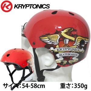 KRYPTONICS クリプトニクス  スケートボード インライン 自転車用 ヘルメット  レッド SACRED HEART HELMET|websports