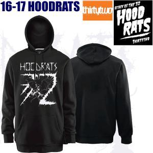 フードラット HOODRATS BAT RAT Pullover BLACK  フードラット 32 サーティーツー thirtytwo パーカー|websports