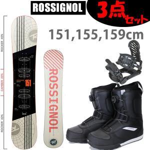 スノーボード 3点セット メンズ ロシニョール ロッカーモデル DISTRICT BLKRED + ZM3800ビンディング + ロシボアブーツ BLKRED GLADE19 メンズ 3点セット