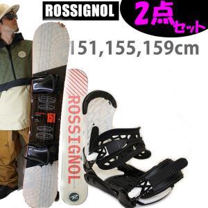 スノーボード 2点セット ロシニョール ロッカーモデル DISTRICT BLKRED + ZM3800ビンディング メンズ 2点セット