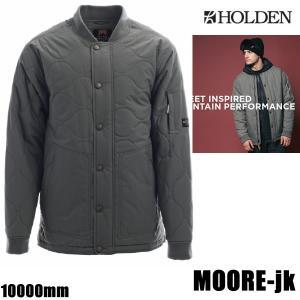 ホールデン ウェア ジャケット 17-18 MOORE -jk  /GUNMETAL  (2017-2018 17-18)HOLDEN ウエア スノーボード ウェア メンズ|websports