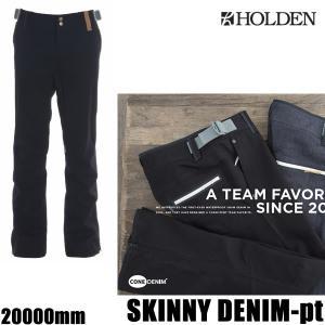 ホールデン ウェア パンツ 17-18 SKINNY DENIM -pt  /BLACK DENIM  スリムパンツ デニム (2017-2018 17-18)HOLDEN ウエア スノーボード ウェア メンズ|websports