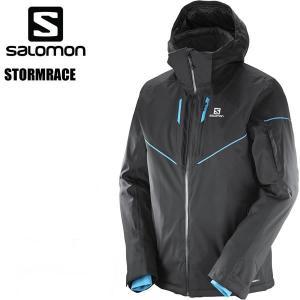 サロモン スキーウェア メンズ 17-18 STORMRACE JACKET /BLACK ストームレース ジャケット SALOMON スキーウエア 2018|websports