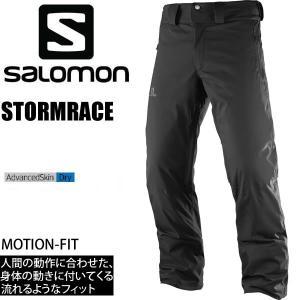 サロモン スキーウェア メンズ 17-18 STORMRACE PANT /BLACK  ストームレース パンツ SALOMON スキーウエア 2018|websports