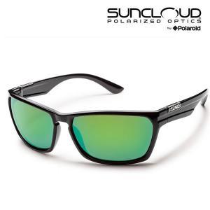 サンクラウド サングラス CUTOUT / GLOSS  BLACK / POLA GREEN MIRROR 偏光サングラス suncloud サングラス|websports