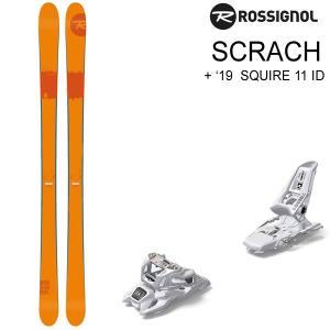 ロシニョール スキー 2018 SCRACH スクラッチ + 18 MARKER SQUIRE 11 ID ブラック 90mm スキーセット rossignol 17-18 スキー板 【L2】 websports