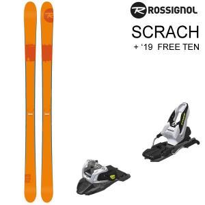 ロシニョール スキー 2018 SCRACH スクラッチ + 18 MARKER FREETEN ブラック 85mm スキーセット rossignol 17-18 スキー板 【L2】 websports