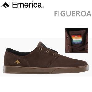 エメリカ スニーカー FIGUEROA BROWN/GUM/GOLD emerica シューズ スケートボード 靴【C1】|websports