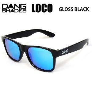 dangshades サングラス LOCO Black GLOSS X LIGHT BLUE Mirror vidg00297  ダンシェイディーズサングラス トイサングラス【C1】|websports