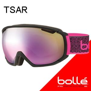 bolle(ボレー) 2018  TSAR(ツァーリー)マットブラック&ネオンピンク ローズゴールド(21649) 17-18 スノーゴーグル【C1】|websports