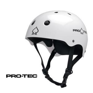 スケボー ヘルメット PROTEC HELMET CLASSIC SKATE グロスホワイト (子供用)(女性用)(大人用)(スケートボード)(インライン)|websports