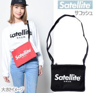 サテライト サコッシュ ベーシック/ブラック Satellite ショルダーバッグ バッグ