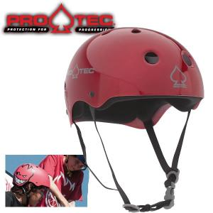 スケボー ヘルメット PROTEC HELMET CLASSIC SKATE レッドメタルフレーク (子供用)(女性用)(大人用)(スケートボード)(インライン)|websports