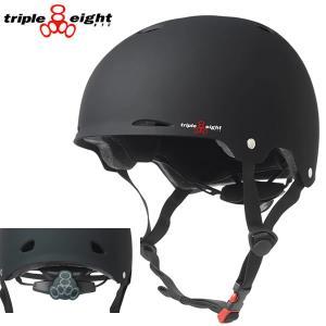 トリプルエイト ヘルメット TRIPLE EIGHT GOTHAM  ブラックラバー  Triple8  888  子供〜大人まで 自転車・インライン・スケートボード ヘルメット【C1】|websports