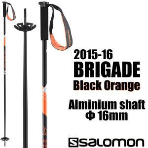 サロモン スキーストック 2016 BRIGADE Black Orange 径16mm L37780600 (15-16 15/16 2016) ブリゲイド SALOMON スキーポール|websports