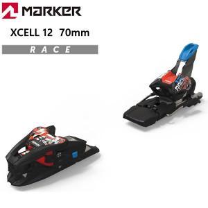 マーカー ビンディング エクセル 12 ブラック フローレッド ブレーキ70mm MARKER XCELL 12 (19-20 2020)レーシング スキービンディング