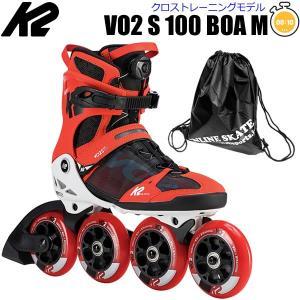 インラインスケート K2 ケーツー  2020  VO2 S 100 BOA Red-White  男性用  I190201501  クロストレーニング  日本正規品  保証書あり|websports