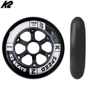 K2 インライン  スペアウィール    SPEED 100mm 85A WHEEL 4PACK  I1704020010  4輪仕様インライン片足分  ケーツー【C1】|websports
