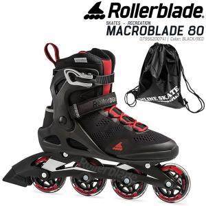 ローラーブレード インライン 2020  MACROBLADE 80 Men  Black-Red  07955200741  男性用  マクロブレード80 メンズ ROLLERBLADE|websports