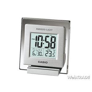 CASIO カシオ 置き時計 温度計 シルバー DQ-735-8JF|webtrade