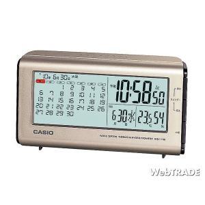 CASIO カシオ 置き時計 電波 温度計/湿度計 シルバー DQC-110J-8JF webtrade