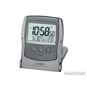 CASIO カシオ 置き時計 電波 温度計 メタリックグレー DQD-208J-8JF|webtrade