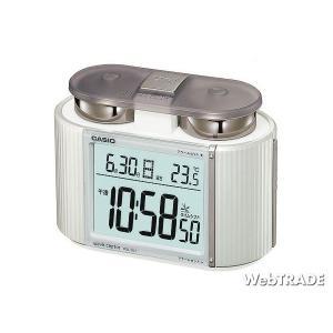 CASIO カシオ 置き時計 電波 温度計 パールシルバー DQD-350J-8JF|webtrade