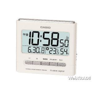 CASIO カシオ 置き時計 電波 温度計/湿度計 ホワイト DQD-660J-7JF|webtrade
