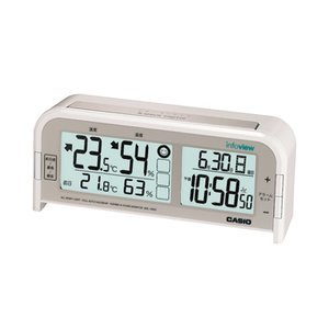 CASIO カシオ 置き時計 電波 ホワイト DQL-100NJ-7JF webtrade