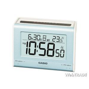CASIO カシオ 置き時計 ソーラー電波 温度計 パールブルー/ホワイト DQS-300J-2JF webtrade
