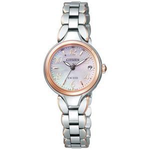 シチズン エクシード ソーラー 電波時計 レディース 腕時計 ES8044-53W|webtrade