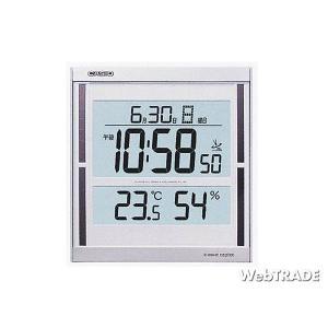 CASIO カシオ 壁掛け時計 電波 温度計/湿度計 パールシルバー/ホワイト IDS-100J-8JF webtrade