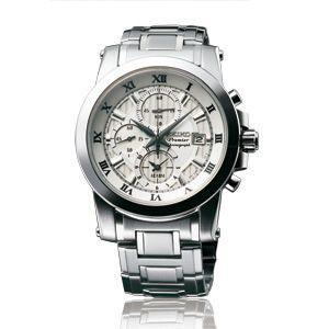 SEIKO腕時計セイコー海外モデルクロノグラフ ホワイト SNAF29P1|webtrade