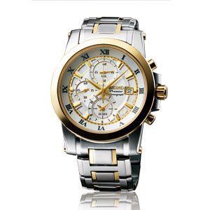 SEIKO腕時計セイコー海外モデルクロノグラフ ホワイト SNAF32P1|webtrade
