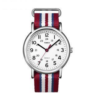 タイメックス TIMEX 腕時計 ウィークエンダー セントラルパーク ホワイト×レッド/ブルー/ホワイトT2N746  メンズ|webtrade