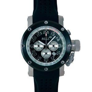 マックス 腕時計 MAX ブラック クロノグラフ MAX424|webtrade