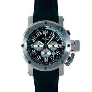 マックス 腕時計 MAX ブラック シルバー クロノグラフ MAX421|webtrade