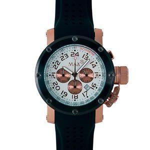 マックス 腕時計 MAX ブラック ピンクゴールド クロノグラフ MAX423|webtrade
