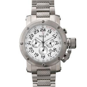 マックス 腕時計 MAX シルバー クロノグラフ MAX481|webtrade