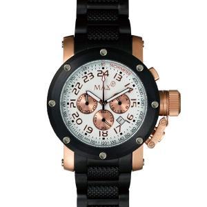 マックス 腕時計 MAX ピンクゴールド ブラック クロノグラフ MAX482|webtrade