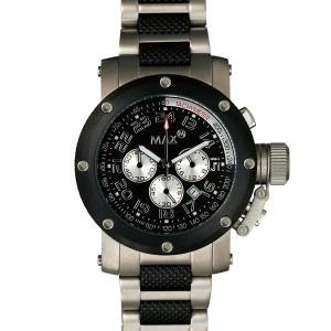 マックス 腕時計 MAX ブラック シルバー クロノグラフ MAX483|webtrade